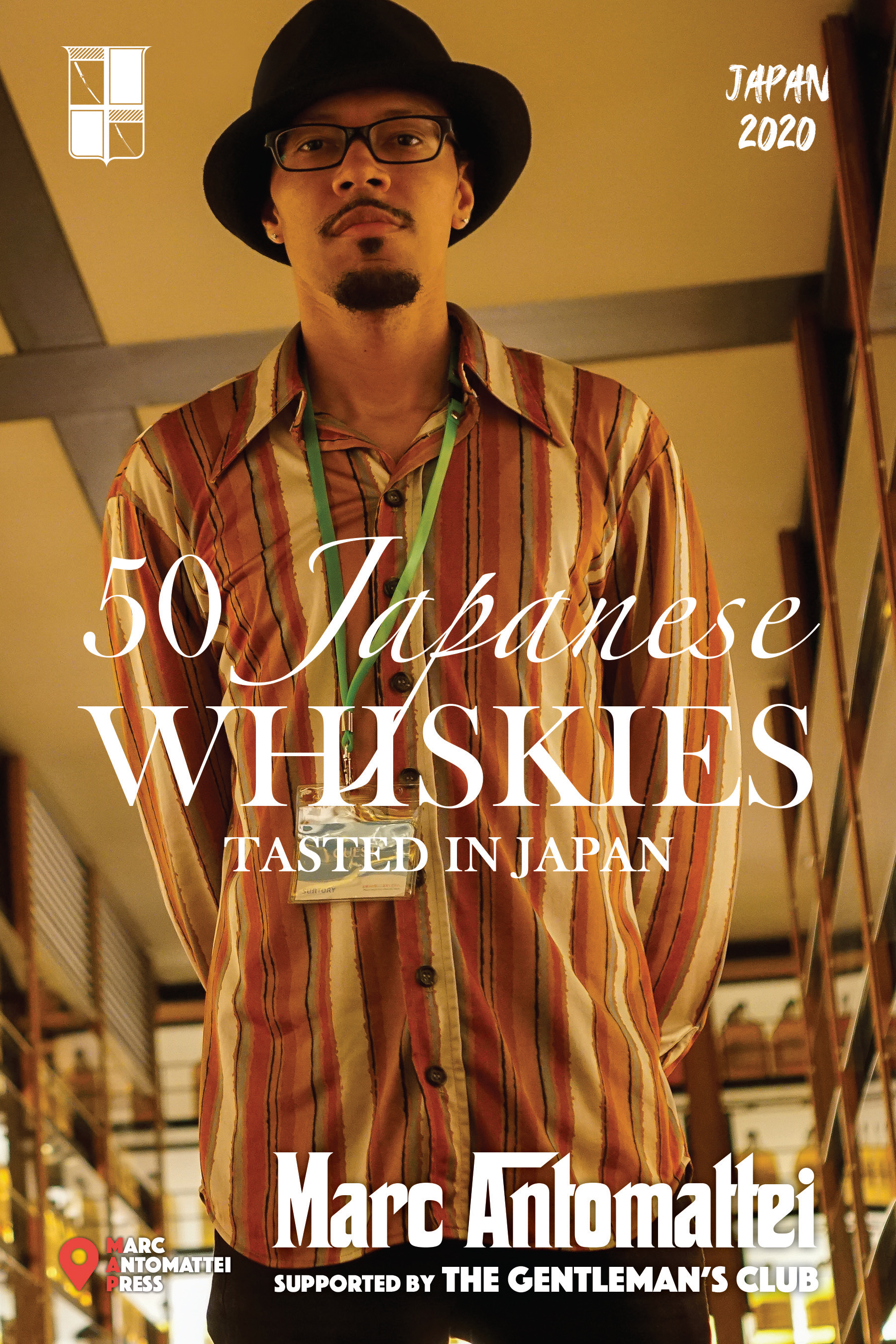 50 Japanese Whiskies (Hardcover) Marc Antomattei Book Cover