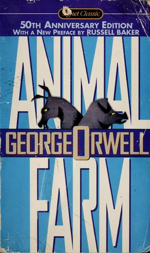 Animal farm George Orwell Book Cover