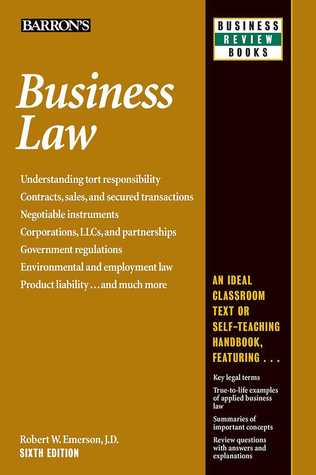Business law Robert W. Emerson Book Cover