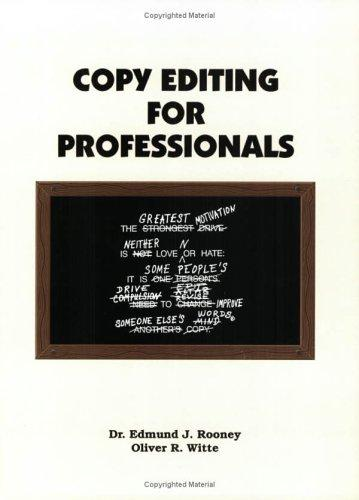 Copy Editing for Professionals Edmund J. Rooney Book Cover