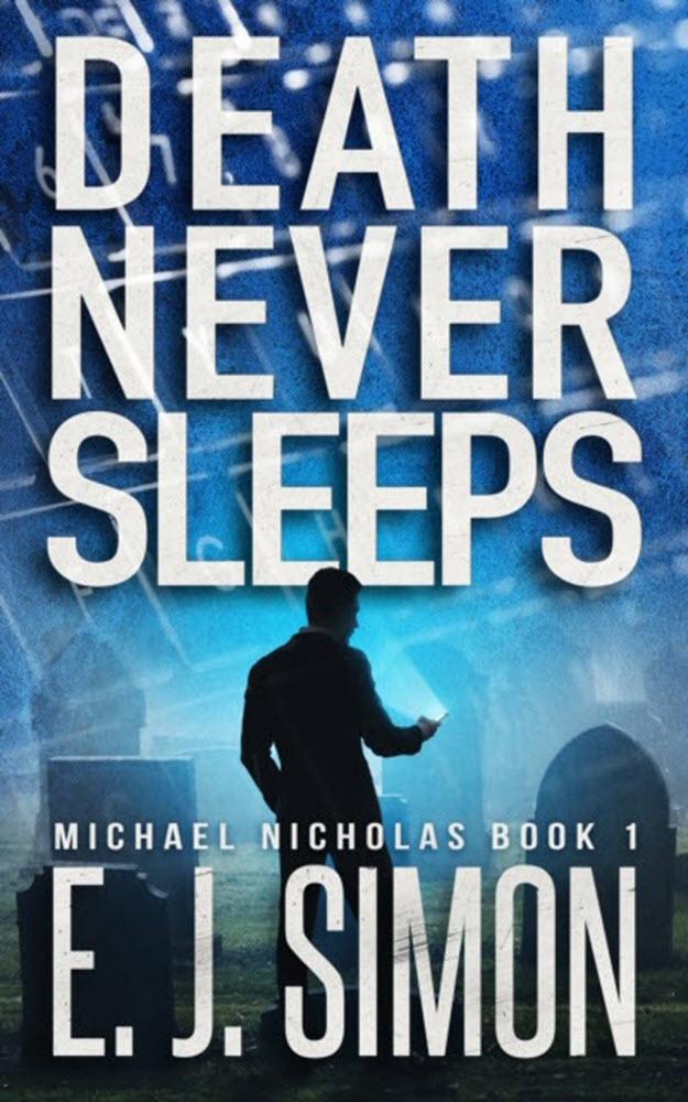 Death Never Sleeps E. J. Simon Book Cover