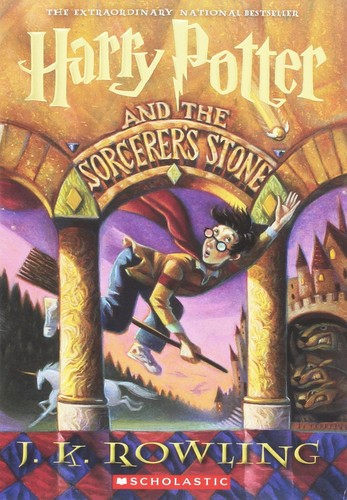 Harry Potter and the Sorcerer's Stone J. K. Rowling Book Cover