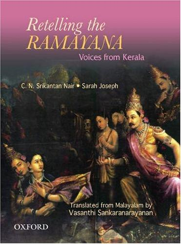 Retelling the Ramayana (English) C. N. Sreekantan Nair Book Cover