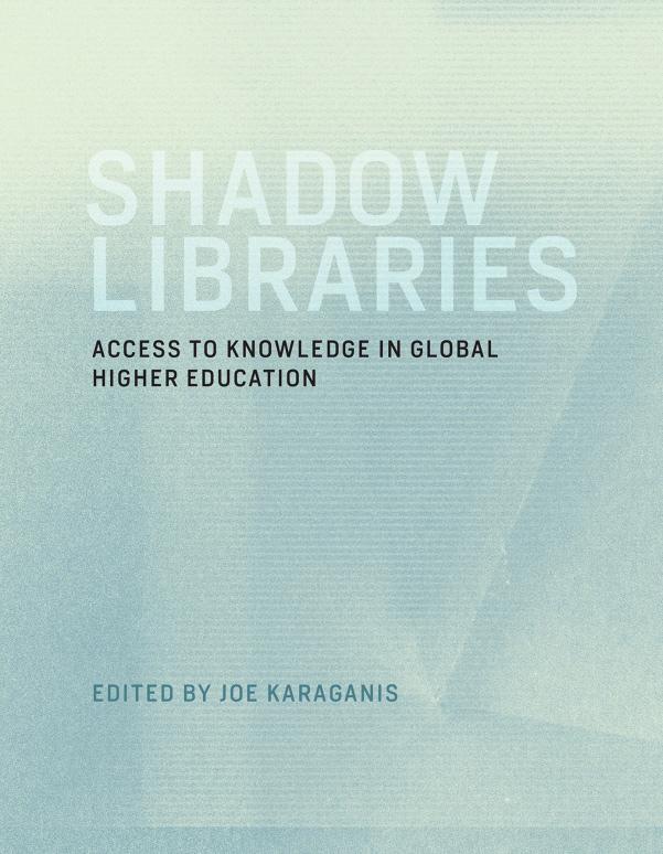 Shadow Libraries Joe Karaganis Book Cover