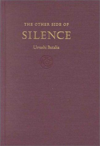 The Other Side of Silence Urvashi Butalia Book Cover